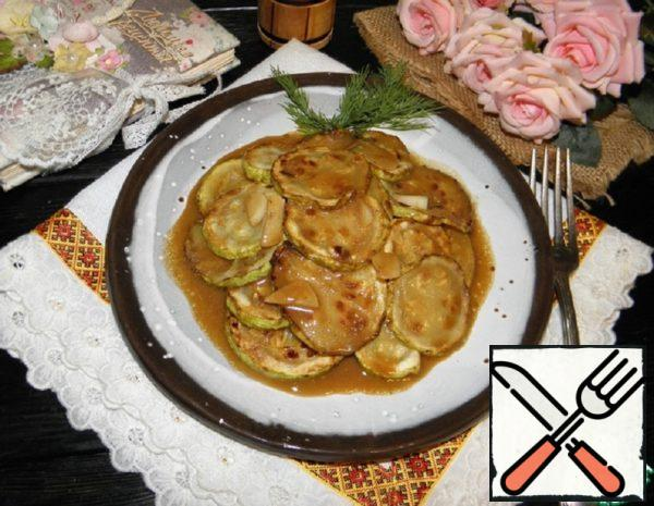 Courgettes in Mustard and Honey Sauce Recipe