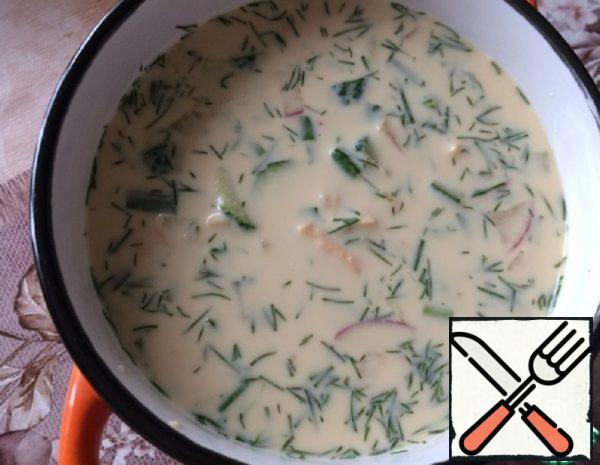 Okroshka is Traditional Russian on Kvass Recipe