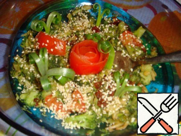 Salad with Broccoli and Sun-Dried Tomatoes Recipe