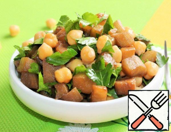 Chickpea Salad with Eggplant Recipe