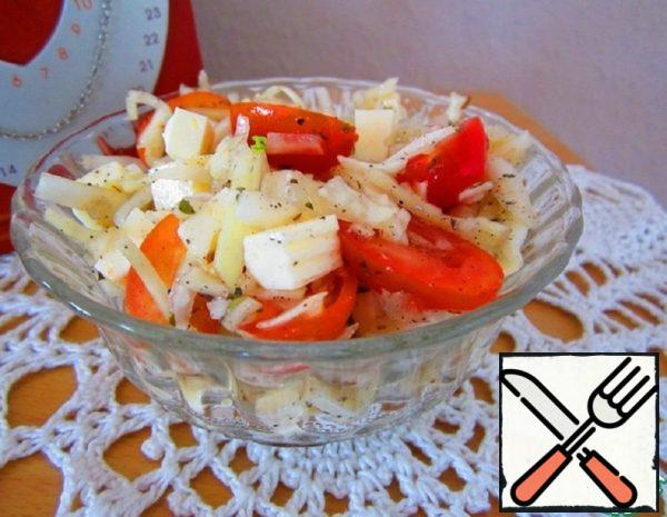 Cabbage Salad with Basil Recipe