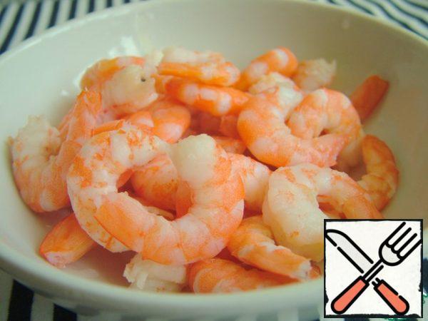 Shrimp can be taken ready.
