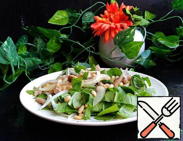 Salad with Spinach, Chicken and Mushrooms Recipe