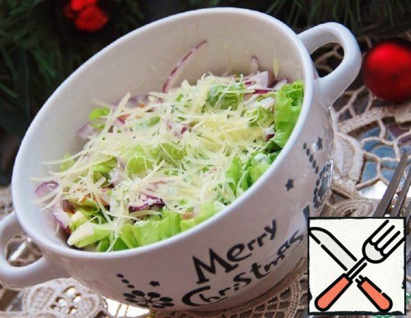 Green Salad with Parmesan Dressing Recipe