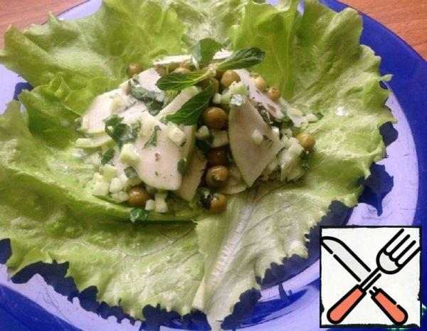 Salad with Cucumber, Peas and Apple Recipe