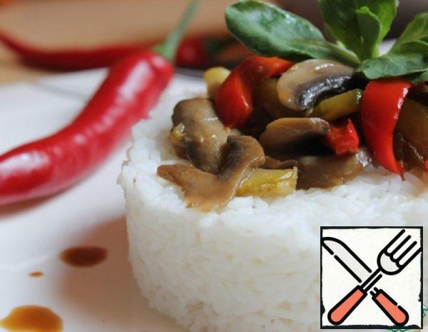 Zucchini with Mushrooms and Rice Recipe