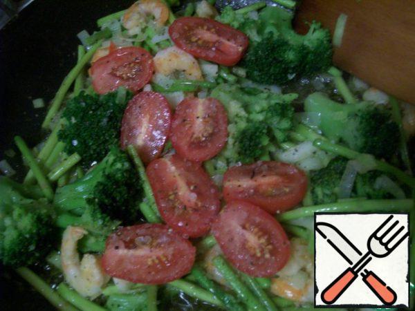 Add chopped Basil, mix gently.