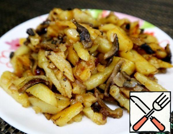 Fried Potatoes with Mushrooms Recipe