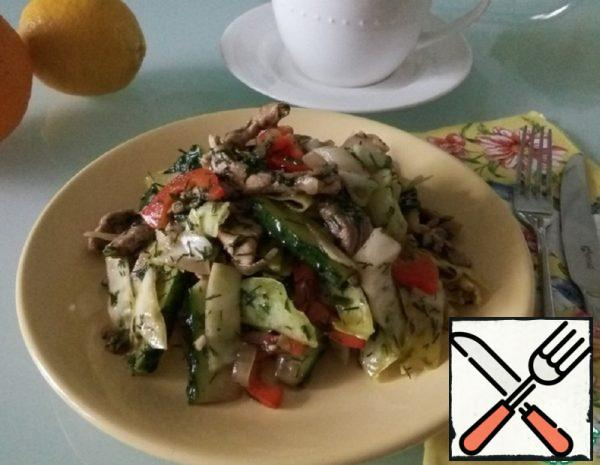 Cabbage Salad with Meat Recipe