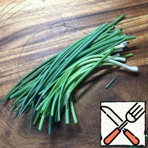 Onions wash and trim the roots.