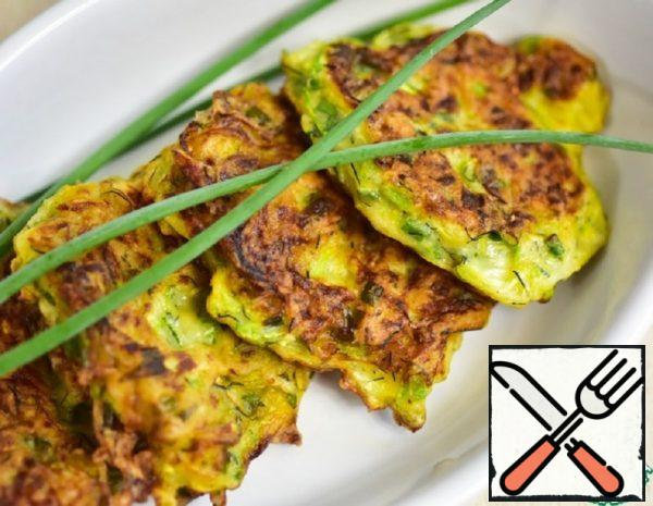 Squash Pancakes with Green Onions Recipe