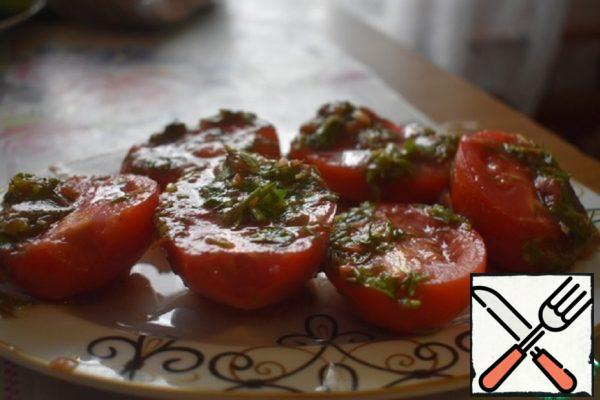 Tomatoes with Herbs in Tomato Marinade Recipe