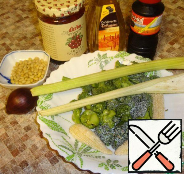 Cook the foods that are depicted in this photo.