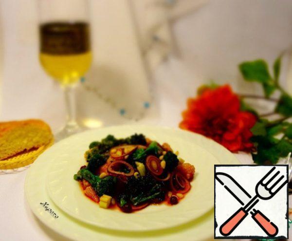 Broccoli Salad with Cranberry Sauce Recipe