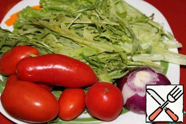 And this is the vegetable component of the salad.