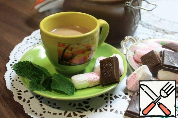 But brew a Cup of fragrant drink in the morning will be easy! Heat the milk, add 2 to 4 tablespoons of fragrant chocolate paste to each serving and mix well. And in your morning (though why only morning?)) the Cup of mouth-watering, full-bodied with a stylish mint flavor refreshing drink.