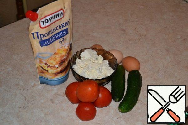 The necessary ingredients for our salad.