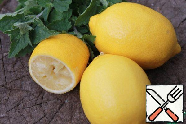 From lemons to squeeze the juice.