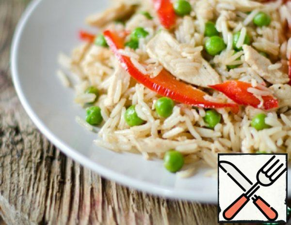Fried Rice with Chicken in Chinese Recipe