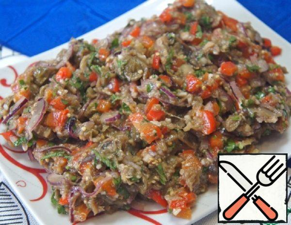 Spicy Snack of Eggplant and Pepper Recipe