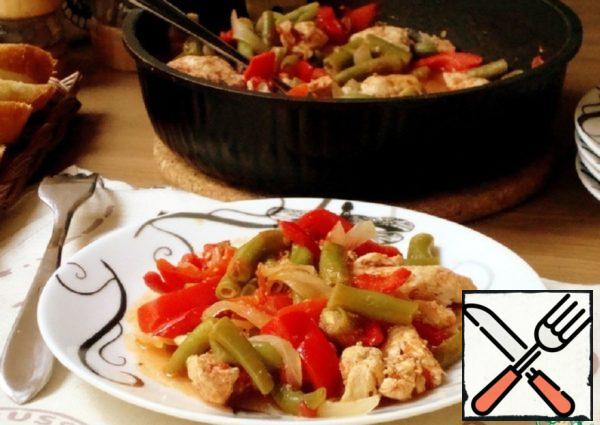 Green Beans with Chicken Breast Recipe