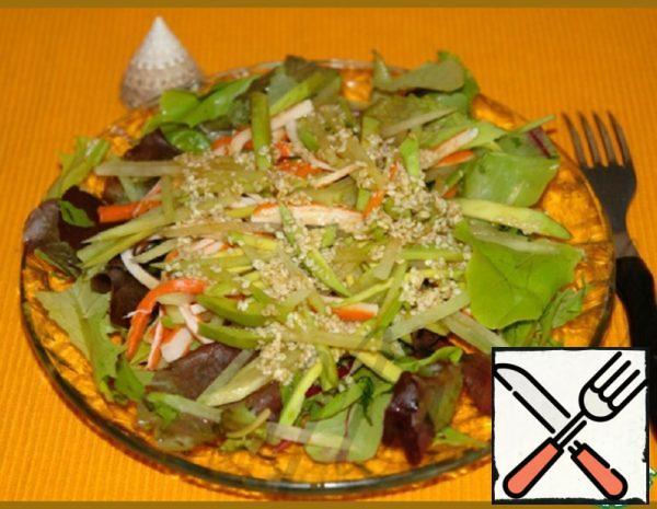 Salad with Crab Sticks and Radish Recipe