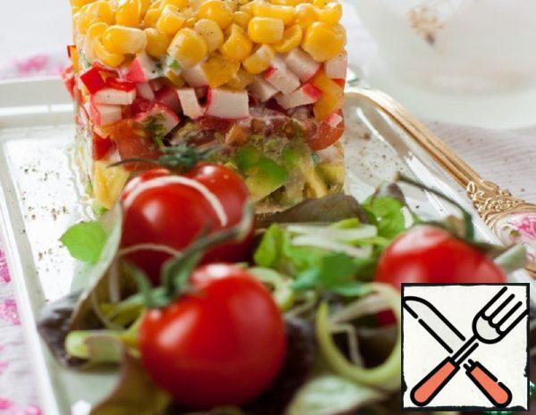 Salad of Vegetables and Crab Sticks Recipe