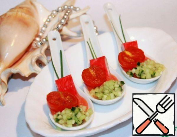Spicy Snack with Crab Sticks in the Mediterranean Style Recipe