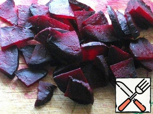 Bake or boil beets, cut.