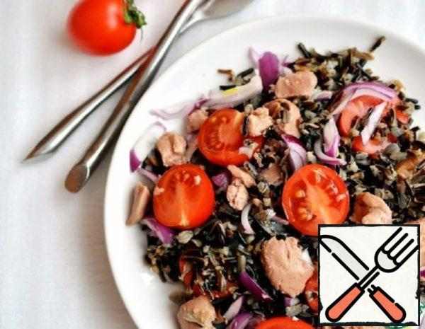 Rice Salad with Cod Liver Recipe