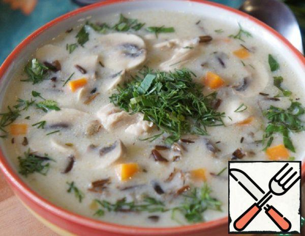 American Soup with Wild Rice and Chicken Recipe