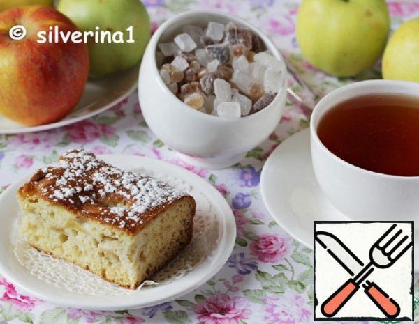 Sour Cream-Honey Pie with Apples Recipe