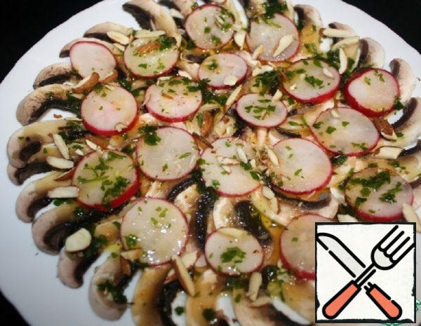 Carpaccio of Mushrooms and Radishes Recipe