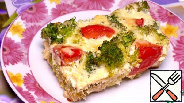 Casserole is ready! It turns out very tasty and tender! And I wish you a good appetite, good mood and all the best!