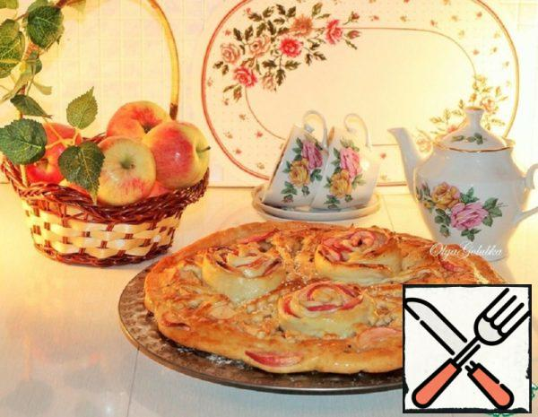 Double Layer Apple and Plum Cake with Cinnamon Recipe