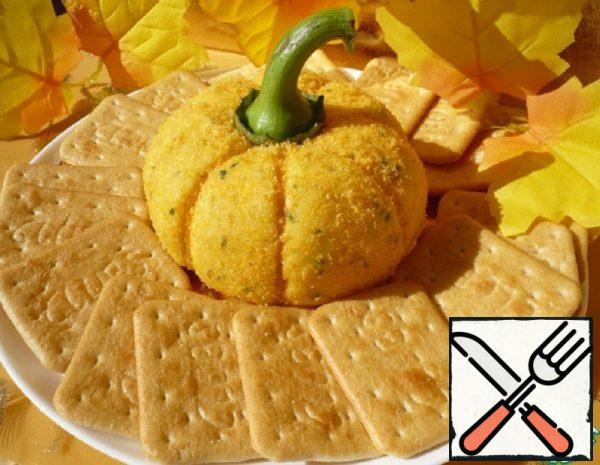 """Cheese Ball """"Pumpkin"""" Recipe"""