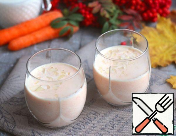 Drink Milk-Carrot with Almonds Recipe