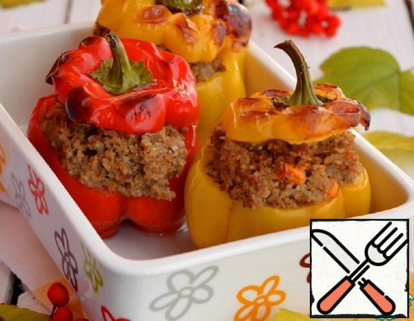 Peppers Stuffed with Lamb and Barley Recipe