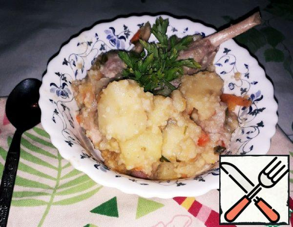 Stew with Rabbit, Turnip, Pumpkin and Couscous Recipe