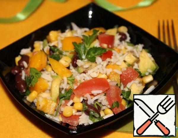 Salad with Rice and Red Beans Recipe