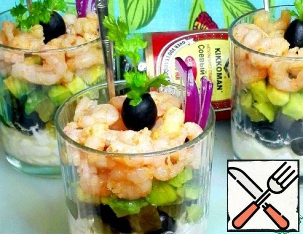 Salad with Cottage Cheese and Shrimp Recipe