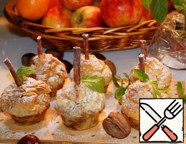Apple Puffs with Chestnuts Recipe