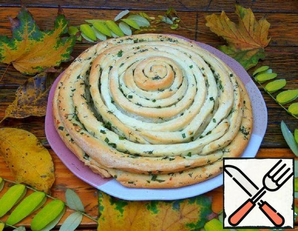 Spiral Bread with Herbs and Garlic Recipe