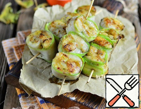 Tilapia on Skewers with Zucchini Recipe