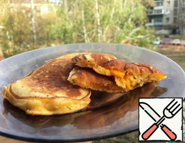 Pumpkin Pancakes with Filling Recipe
