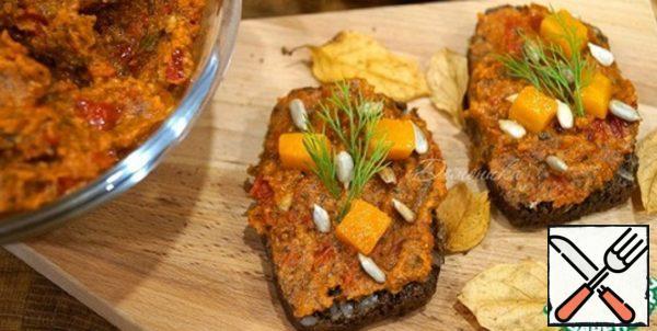 Pumpkin Pesto with Sun-Dried Tomatoes Recipe