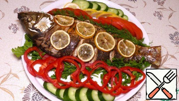 Fish is ready! Serve with vegetables. It turns out very tender and tasty. And I wish you a good appetite, good mood and all the best!