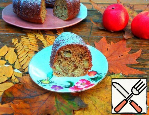 Banana-Semoloina Cake with Apples Recipe