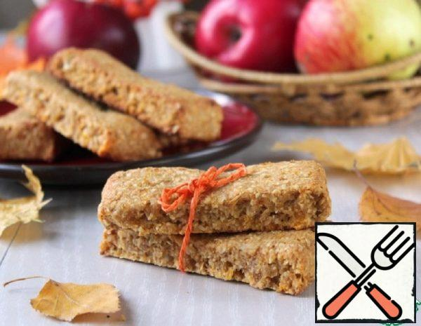 Oatmeal Bars with Dried Apricots and Apple Recipe