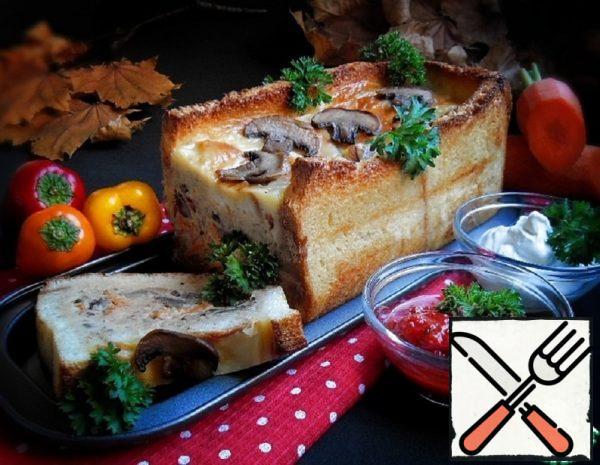 "Casserole ""Mushroom Basket"" Recipe"